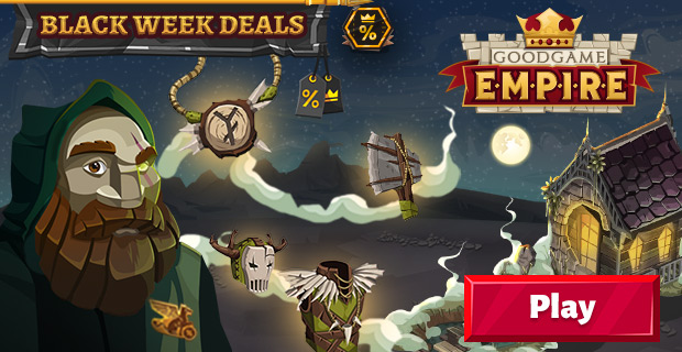 Goodgame Empire Black Week Deals